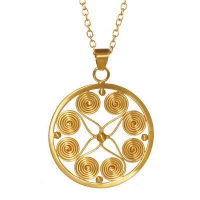 Nicole-Piper-smykker---Guld-halskæde-med-livets-tegn-circle-og-life--CNG052