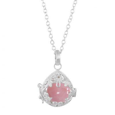 nicole-piper-halskæde-heart-drems-med-rosa-kvarts-i-sølv